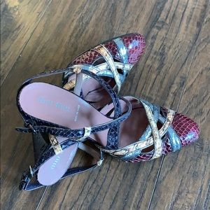 Miu Miu real snakeskin shoes